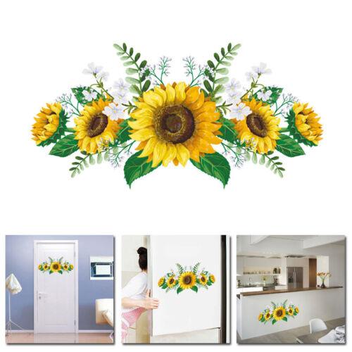 Новые творческие ПВХ подсолнечник стены двери наклейка спальня гостиная украшения дома