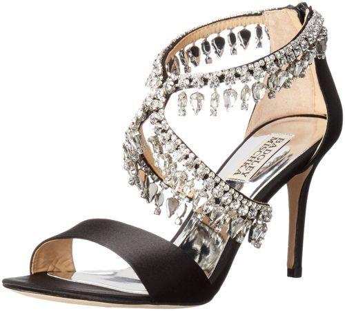 245 Dimensione Dimensione Dimensione 7 Badgley Mischka Grammy Rhinestone Heel Strappy Sandals donna scarpe 573784