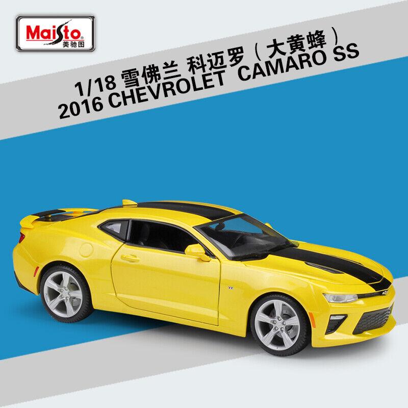 Maisto 1 18 2016 Chevrolet Camaro SS Diecast Modelo Coche Bumblebee Nuevo En Caja