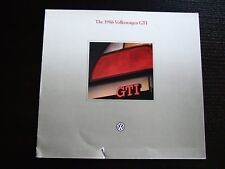 VOLKSWAGEN VW PROSPEKT · The 1986 Golf GTI USA · 08/1997