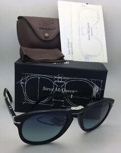 1ff2ff48f1e Steve McQueen PERSOL Folding Sunglasses 714-SM 96 S3 54-21 Black+ ...