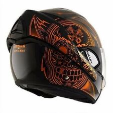 Shark Evoline 3 Mezcal Chrome Black Orange Helmet Size XLarge