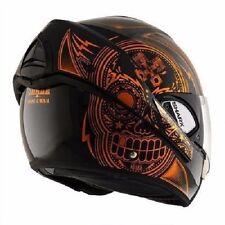 Shark Evoline 3 Mezcal Chrome Black Orange Helmet Size XSmall