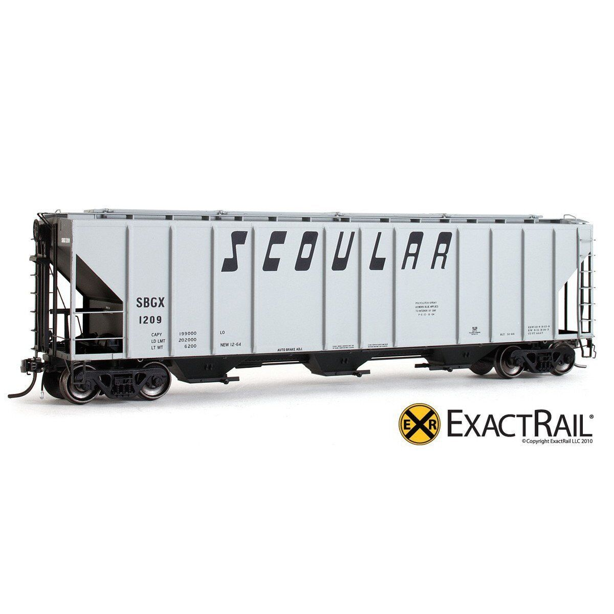 EXACTRAIL HO Scoular PS-2CD 4427 Covered Hopper SBGX EP-80178-4