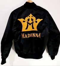 MADONNA BLOND AMBITION TOUR 1990 BOMBER TALENT CREW JACKET - NEVER SOLD - RARE