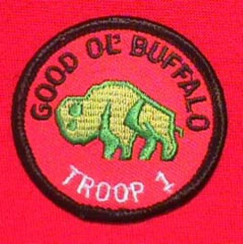 GOOD OL BUFFALO Round Patrol Patch Wood Badge Course Cub Boy Scout beads BSA