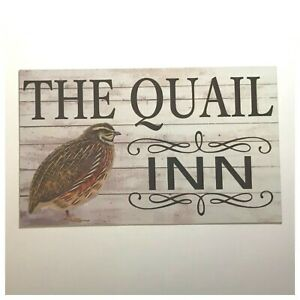 Details about Quail Inn Bird Sign Wall Plaque or Hanging Pet Cage Garden