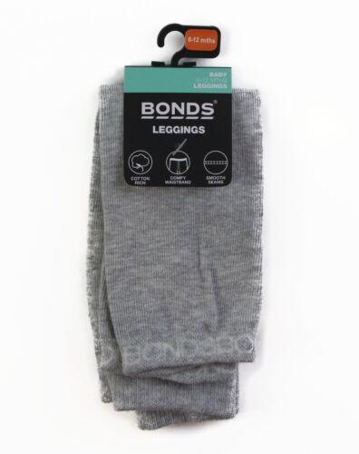 NWT BONDS Baby Cotton Leggings Legging Grey Size 0-6 months 12-24 months RYY61W