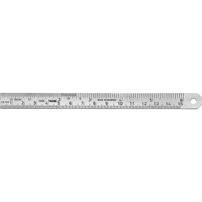 1012030100  Stahllineal Lineal 1000 mm/inch  DIN ISO 2768 NEU VOGEL