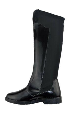 PRIMIGI 2440700 stivale alto stile da cavallerizza elasticizzato nero vernice ba