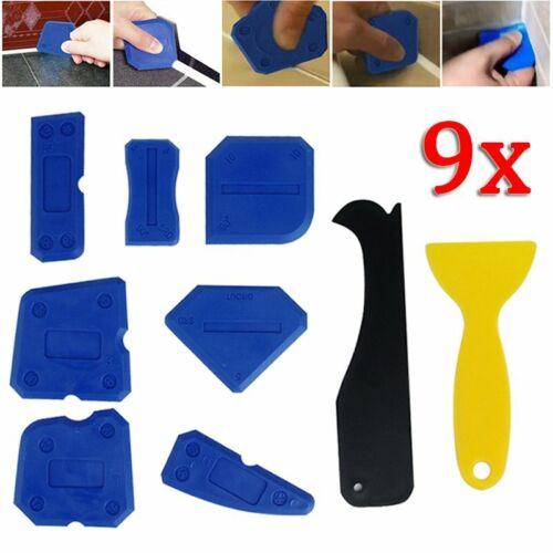 9 Pcs Kit Outil Calfeutrage Enlèvre Joint Grattoir Lisseur Silicone plancher sol