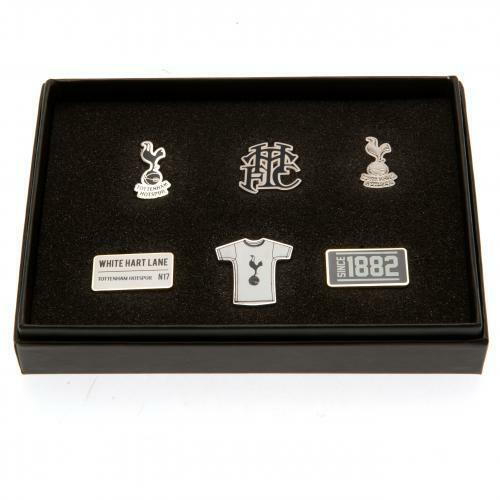 Tottenham Hotspur FC Official Crest Key chain and Pin Badge Set