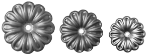 Decorative Floral Rosette Decorative Rosette Fence Element Ornament Flower Ø68 Ø95 Ø120mm KW.006