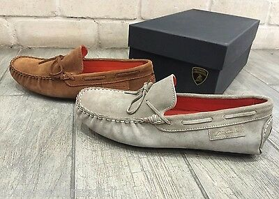 Automobili Lamborghini Mens Shoes RARE Moccasin Suede Low Sneakers -  New In Box