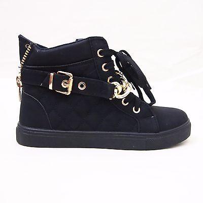 Appena Scarpe Donna Sneakers Polacchine Lacci Catenina Oro Tacco Basso Comodi Prestazioni Superiori