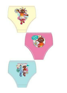 Girls 3 Pack of In The Night Garden Knickers Briefs  2-3 3-4 years Upsy daisy