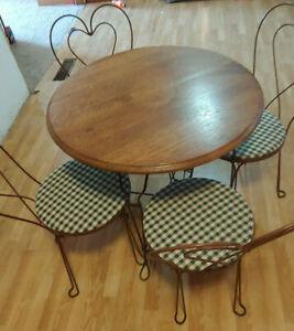 Antique Ice Cream Parlor Table Set Ebay