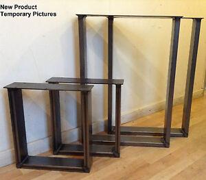 industriel boitier en acier pieds x2 pour tables bureau banc design r tro chic ebay. Black Bedroom Furniture Sets. Home Design Ideas
