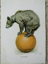 """Philip Goodwin,""""Trick Bear"""",  Print 11"""" x 16"""", Signed & Dated 1910"""