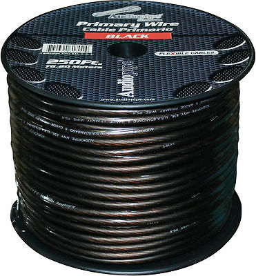 50 ft Section of Black 8 Gauge Speaker Power / Ground Car Audio Cable Wire 8 Ga