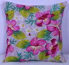 "16"" INDIAN CUSHION PILLOW GREY COVER Ethnic Kantha Vintage Traditional Decor Art"