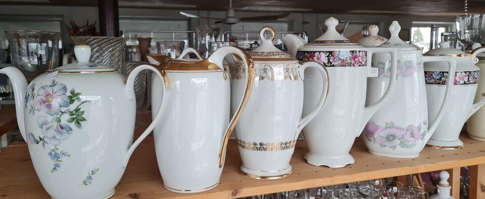 Porcelæn, Gamle kaffekander, Diverse mærker