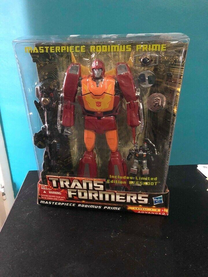 Descuento del 70% barato Transformers Masterpiece Masterpiece Masterpiece rodimus prime Juguetesrus Completo de Menta  descuento online