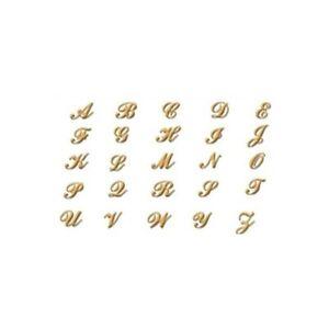 24k gp nail charm top nail art gold alphabet letter v ebay