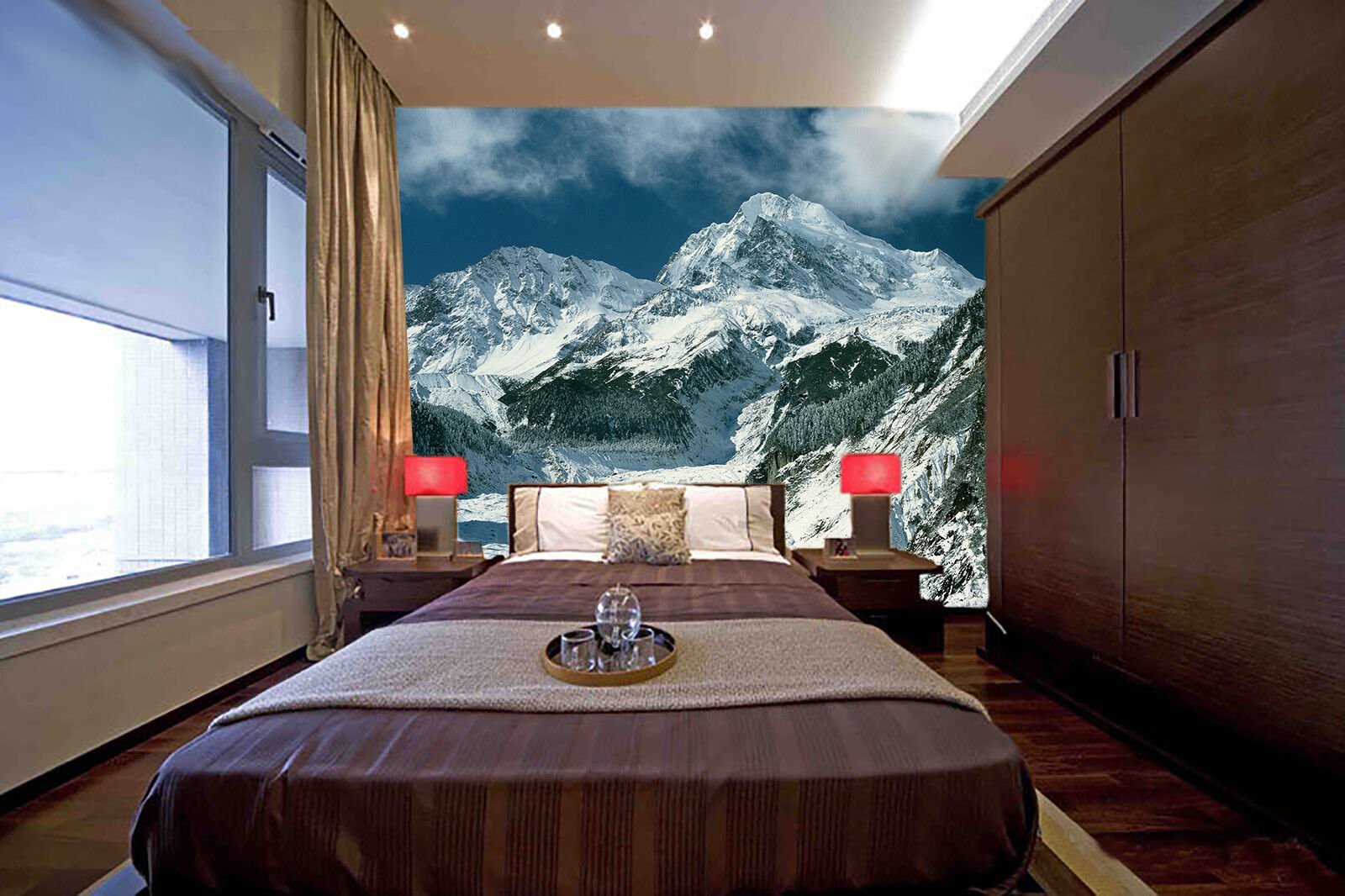 3D Mountains Sky 565 Wall Paper Wall Print Decal Wall Deco Indoor Mural Summer