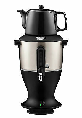 Elektrischer MULEX Samowar mit Teekanne Teekocher GROß Samovar weiss 3 Liter 485
