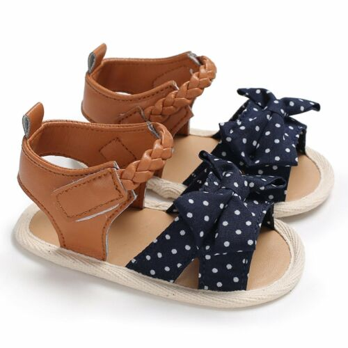 Fashion Infant Baby Girl Soft Sole Sandals Toddler Summer Shoes Bow-Knot Sandal