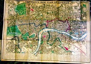 Antique-map-Cruchley-039-s-new-plan-of-London