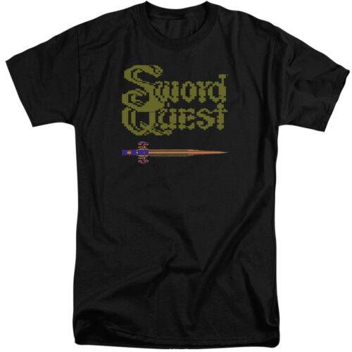 Atari Tall T-Shirt Swordquest 8 Bit Sword Black Tee