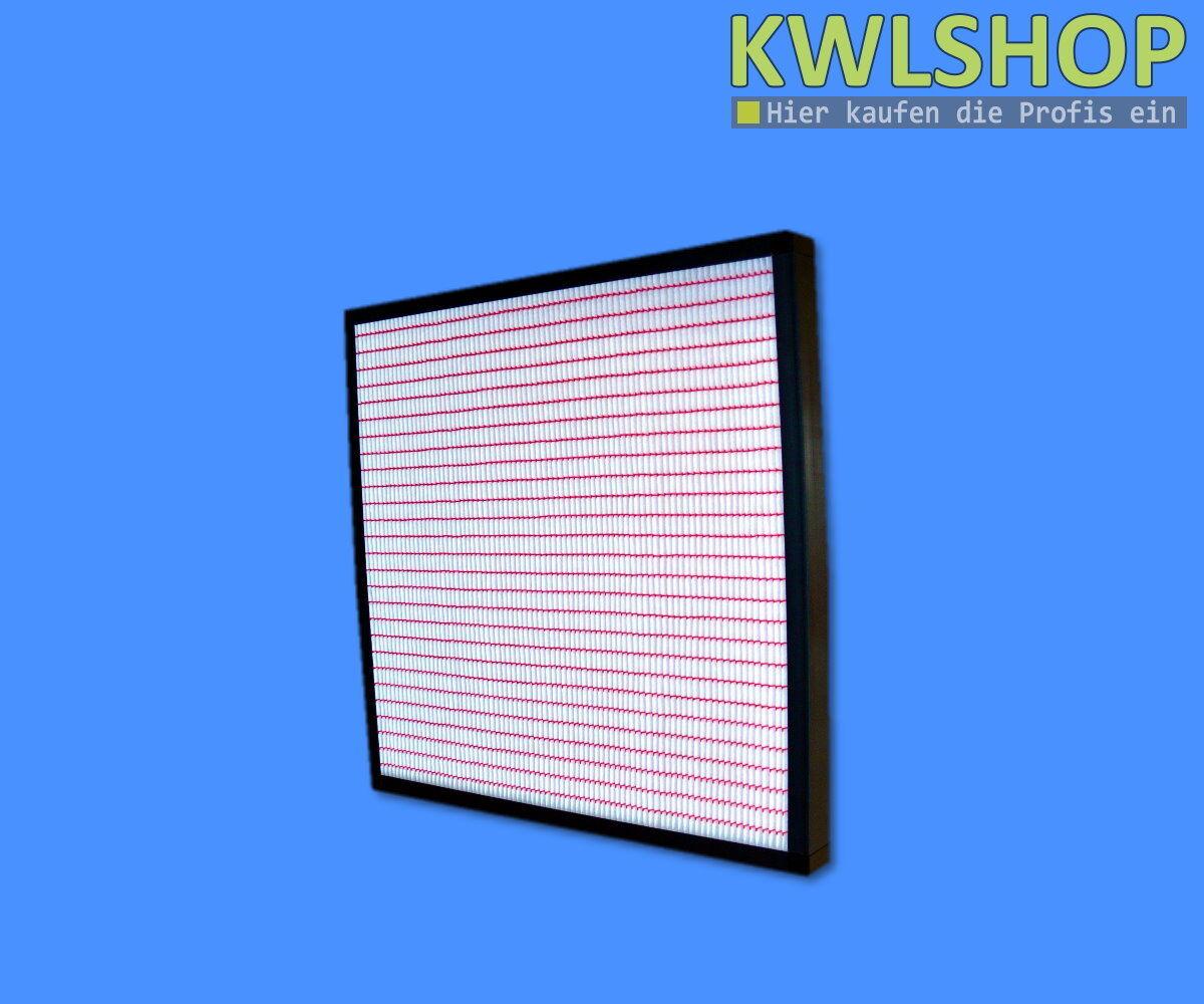 1 x Panelfilter 287 x 592, 96 mm in Kunststoffrahmen, Filterklasse F7