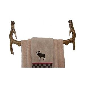 Image Is Loading Antler Bathroom Towel Rack Rustic Deer Hunting Cabin