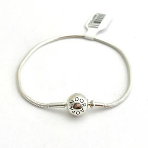 d36a1441b52 Image is loading Pandora-Essence-Collection -Sterling-Silver-Bracelet-596000-18-