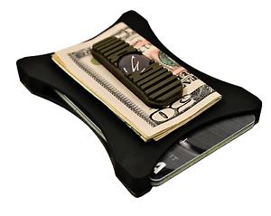 Olive Terne sur le noir le meilleur Portefeuille une poche avant portefeuille Mince Portefeuille