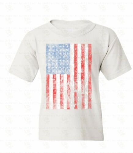 American Flag Distressed Youth T-shirt 4th Of July USA Patriotic Gift for kids