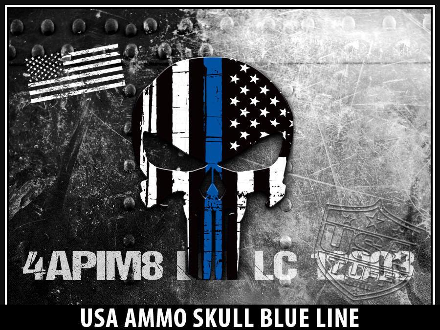 USATuff Cooler Wrap 'Fits New Mold' RTIC RTIC Mold' 20QT FULL USA Ammo Skull Blau Line 1d5347