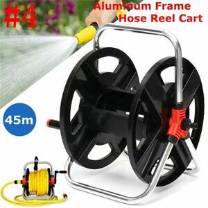 Garden-Hose-Reel-Holder-Rack-Pipe-Storage-Cart-Water-Planting-Cart-Aluminum-ABS