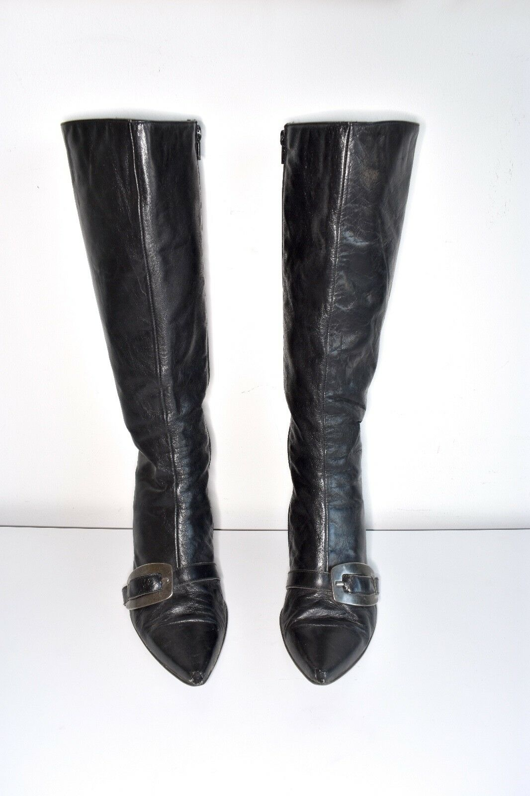 tolle stiefel boots mit schnalle 90s 2000s 39 - 40 JOHN GALLIANO