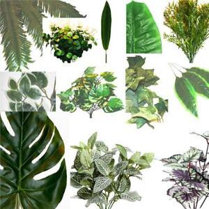 Artificial Leaves Decorative Plastic Leaf Foliage Individual Stems Ebay
