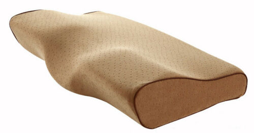 Contoured Cervical Orthopedic Pillow Memory Foam Sleep Pillows Butterfly Spine