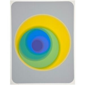 Neil Korpi (American, b. 1942) Untitled  Op Art Signed Serigraph (ca. 1978)