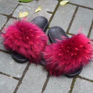 Real-Raccoon-Fur-Slides-Fluffy-Slippers-Slider-Women-Summer-Sandals-Flat-56020B