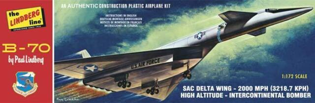 Lindberg B-70 Bomber 1/172 scale airplane plastic model kit new 413