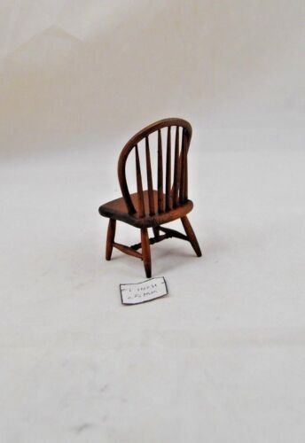 Windsor black walnut finish dollhouse  1//12 scale miniature CLA07813 Chair