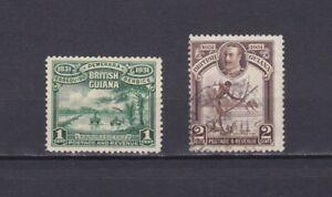 BRITISH-GUIANA-1931-Sc-205-206-part-set-MH-Used