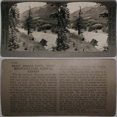Canada 600//1200 Card Set #1096-A Keystone Stereoview BANFF SPRINGS HOTEL AB