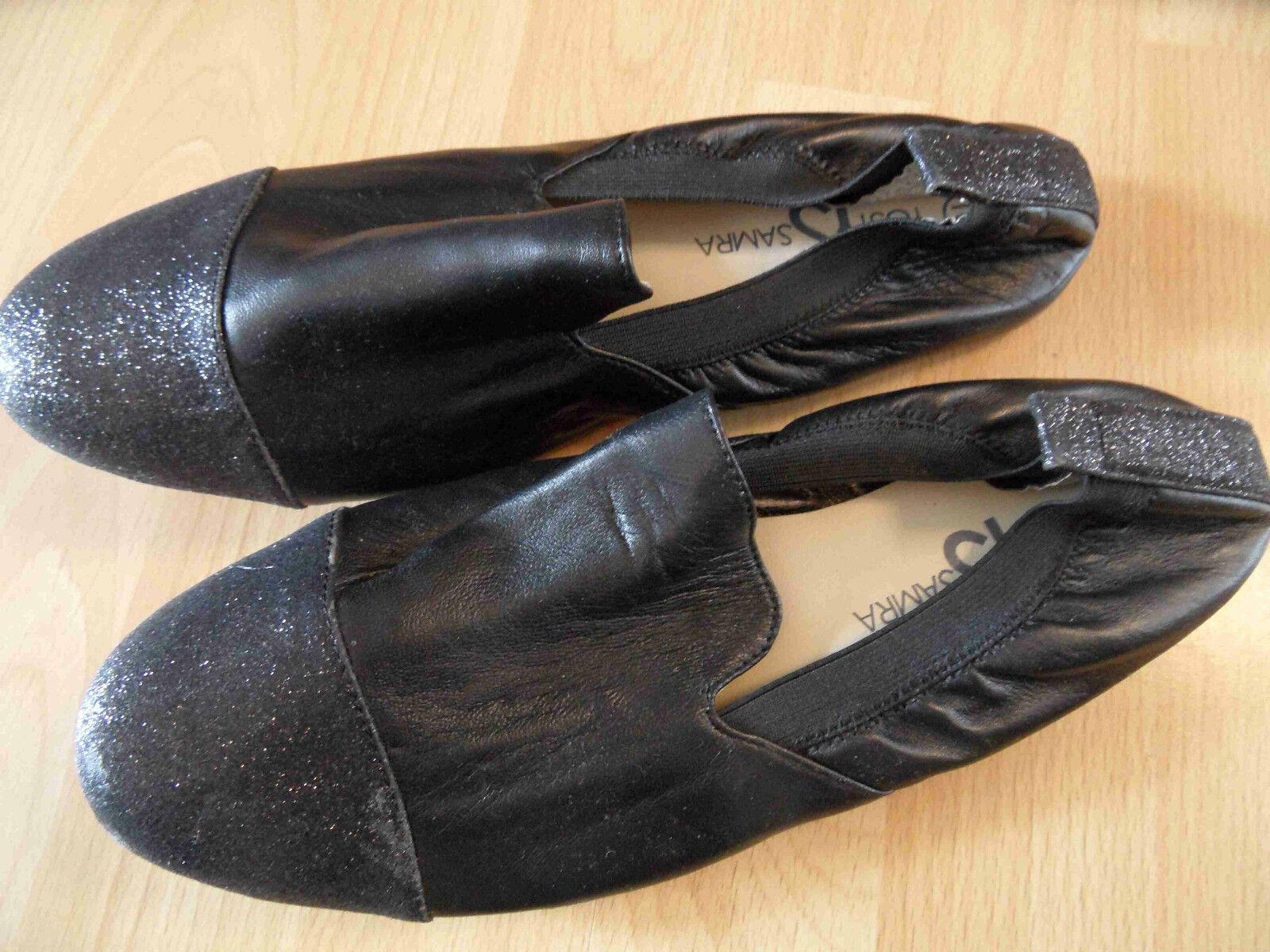 YOSI SAMRA stylische edle Loafer black m. Glitzer Gr. 40  NEU BSu316